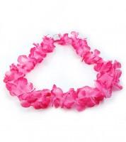 Hawaii-Kette aus Stoff - pink - 1 m
