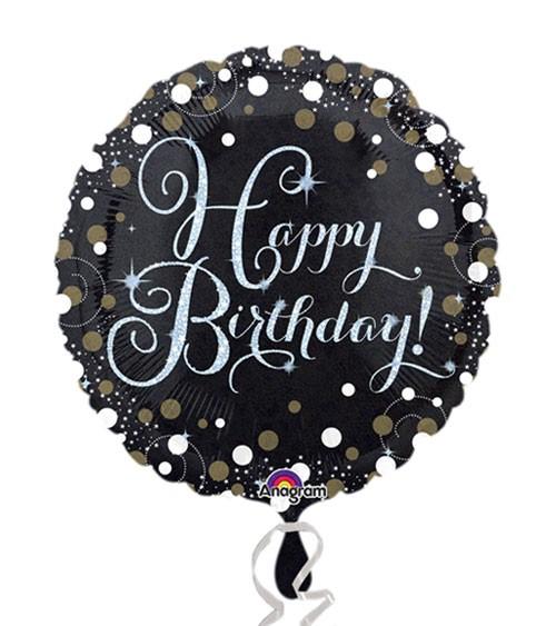 """Runder Folienballon """"Sparkling Celebration"""" - Happy Birthday"""