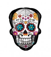 "SuperShape-Folienballon ""Day of the Dead"" - 45 x 60 cm"