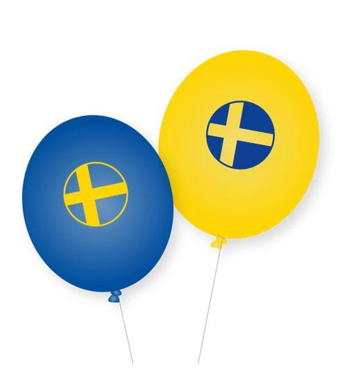 """Luftballons """"Schweden"""" - 8 Stück"""