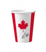 """Pappbecher """"Kanada"""" - 10 Stück"""