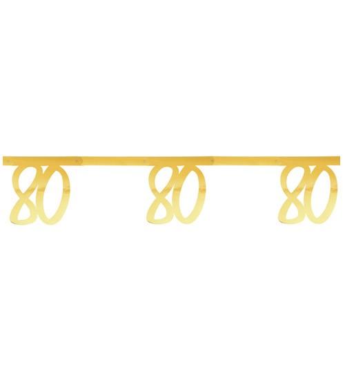 """Zahlengirlande aus Papier """"80"""" - metallic gold - 2,5 m"""