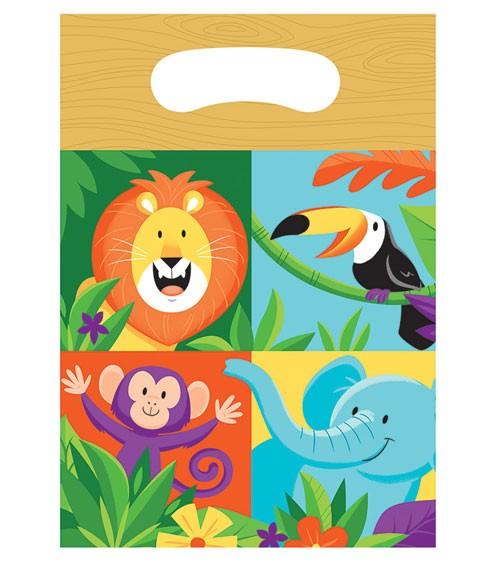 "Mitgebsel-Tüten ""Dschungel Safari"" - 8 Stück"