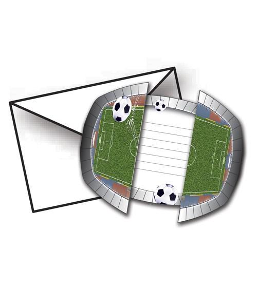 """Einladungskarten """"Fußballstadion"""" - 8 Stück"""