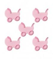 """Zuckerdekor """"Kinderwagen"""" - rosa - 5 Stück"""