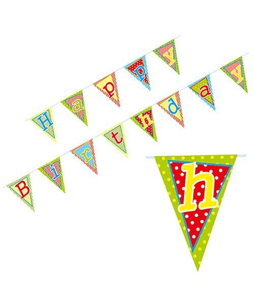 "Wimpelkette ""Happy Birthday"" - 4 m"