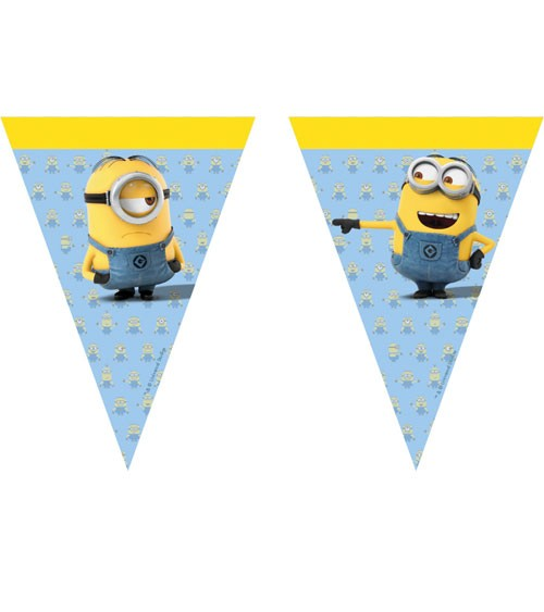 """Wimpelgirlande """"Lovely Minions"""" - 2,3 m"""
