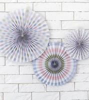 Rosetten-Set - pastell - 3-teilig
