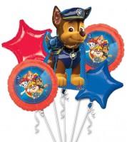 "Folienballon-Set ""Paw Patrol - Helfer auf vier Pfoten"" - 5-teilig"