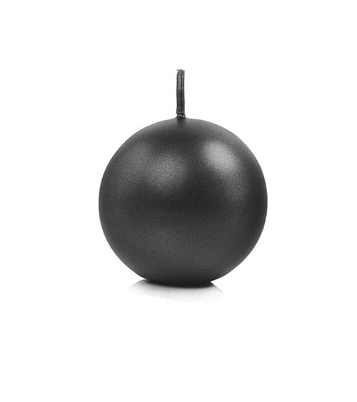 Kugelkerzen - schwarz metallic - 6 cm - 10 Stück