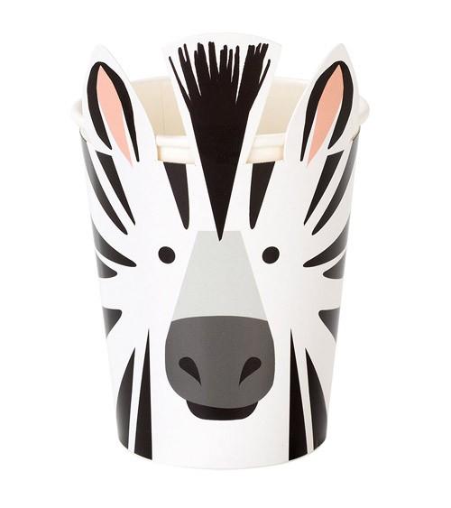 "Pappbecher ""Zebra"" - 8 Stück"