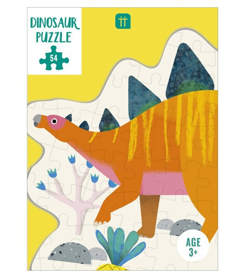 "Dinosaurier-Puzzle ""Stegosaurus"" - 54 Teile - 35 x 27 cm"