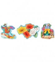 """Party-Cutouts """"Flamingo Fun"""" - 3 Stück"""