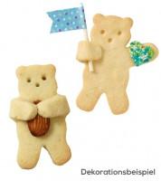"""Knuddel-Keks-Ausstecher """"Teddy"""" - 6,5 cm"""