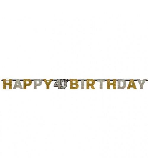 """Happy Birthday-Girlande """"Sparkling Celebration"""" - 40. Geburtstag"""