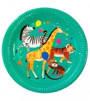 "Pappteller ""Safari Geburtstag"" - 8 Stück"