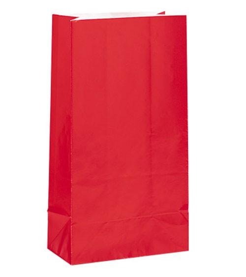 12 Papiertüten - rot