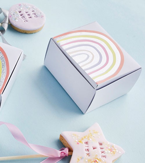 "Mini Cake Boxen ""Rainbow Pastel"" - 10 Stück"