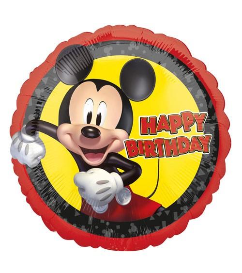 "Runder Folienballon ""Mickey Mouse"" - Happy Birthday - 43 cm"
