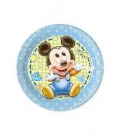 """Kleine Pappteller """"Baby Mickey"""" - 8 Stück"""