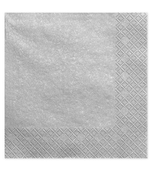 Servietten - silber metallic - 20 Stück