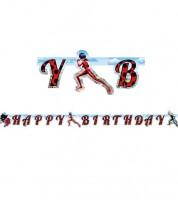 "Happy Birthday-Girlande ""Miraculous"" - 1,80 m"