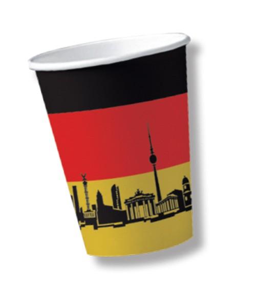 """Pappbecher """"Deutschland"""" - 10 Stück"""