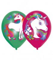 "Luftballon-Set ""Einhorn-Zauber"" - grün/pink - 6 Stück"