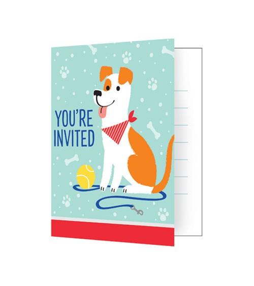 """Einladungskarten """"Hunde-Party"""" - 8 Stück"""