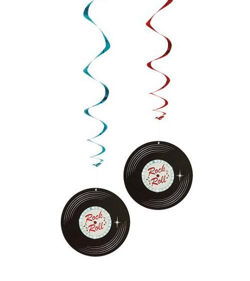 "Spiralgirlanden ""Rock 'n Roll"" - 85 cm - 2-teilig"