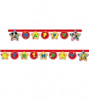 "Happy Birthday-Girlande ""Micky Maus Wunderhaus"" - 2,1 m"