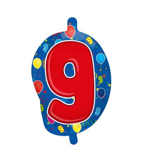 "Zahlen-Folienballon ""9"" - 56 cm"
