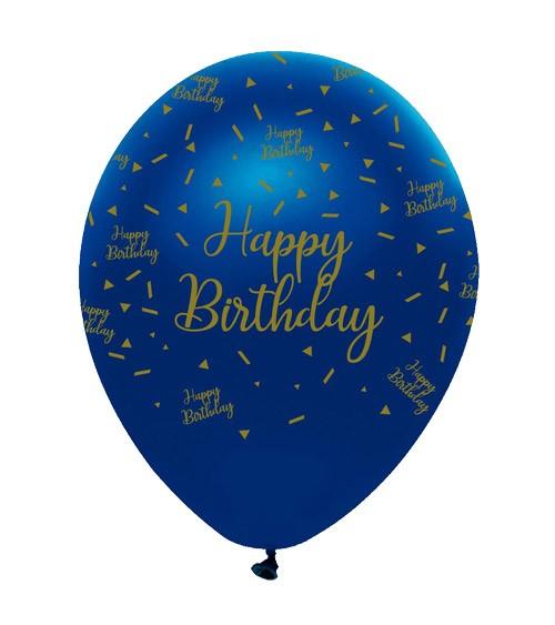 "Luftballons ""Geo Navy"" - Happy Birthday - 6 Stück"