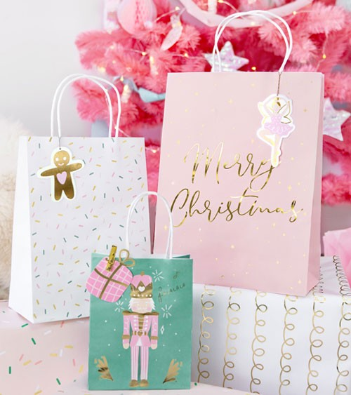 "Geschenktüten-Set ""Merry Christmas"" - Design Mix - 3-teilig"