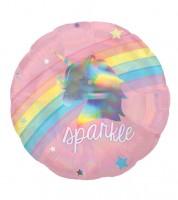 """Runder Folienballon """"Magical Rainbow"""" - Einhorn & Schwan - 45 cm"""