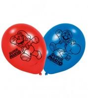 "Luftballon-Set ""Nintendo Super Mario"" - rot/blau - 6 Stück"