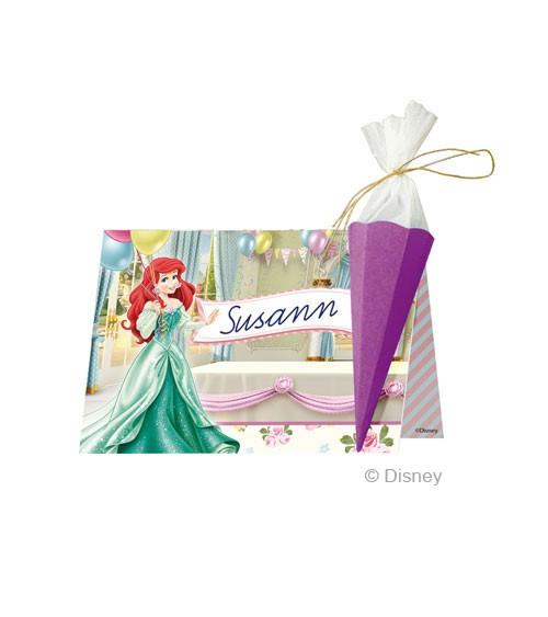 """DIY Einschulungs-Platzkarten """"Disney's Princess"""" - 6 Stück"""