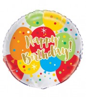 "Runder Folienballon ""Birthday Fun"""