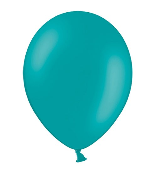 Standard-Luftballons - türkisblau - 10 Stück