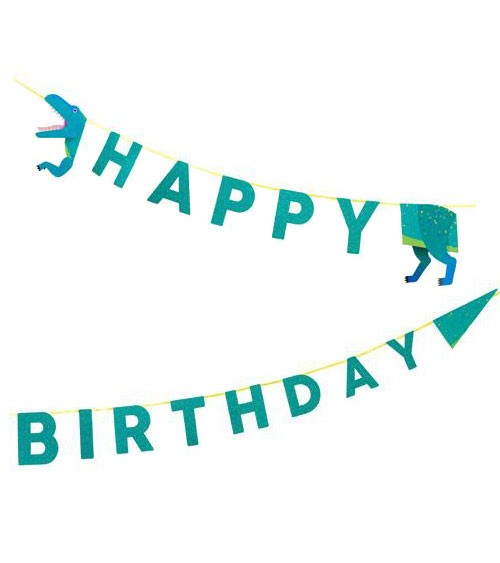 "Happy Birthday-Girlande ""Party Dinos"" - 3,5 m"