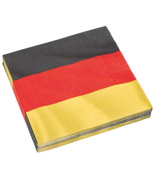 """Servietten """"Deutschlandfahne"""" - 20 Stück"""