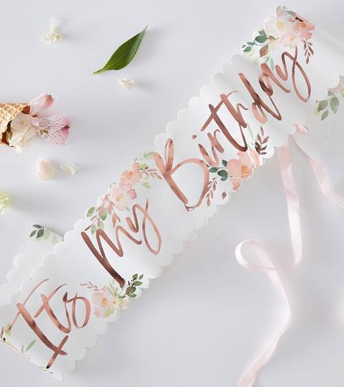 """It's my Birthday-Schärpe """"Floral Mix"""""""