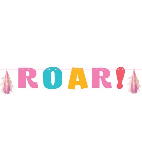 Roar-Girlande mit Tasseln - Farbmix Pastell - 1,37 m