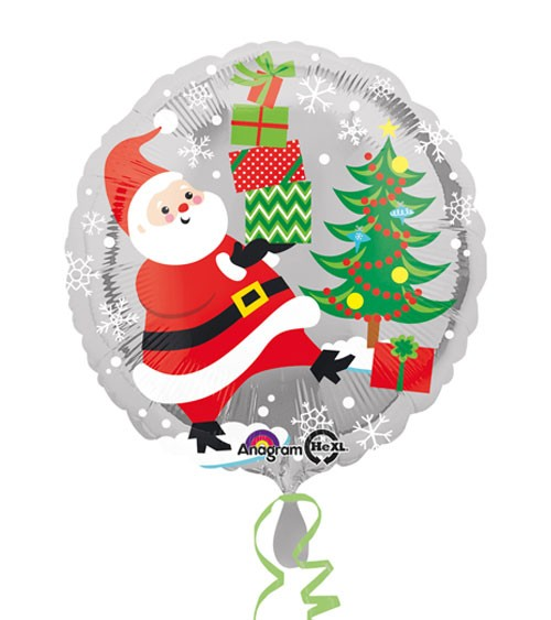 "Runder Folienballon ""Weihnachten"" - 43 cm"
