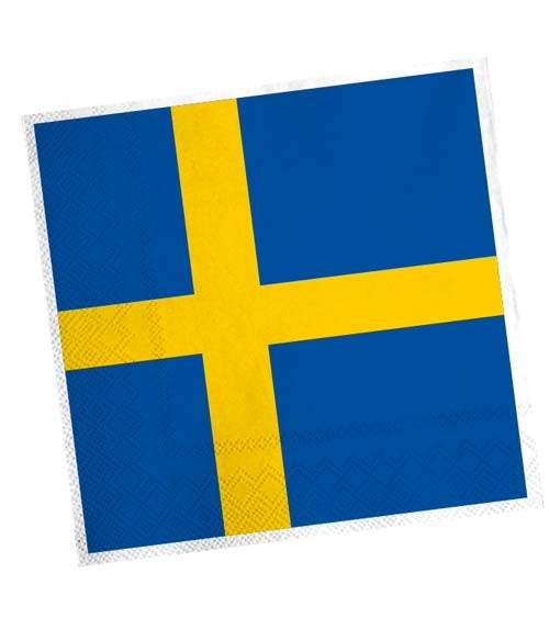 """Servietten """"Schweden"""" - 20 Stück"""
