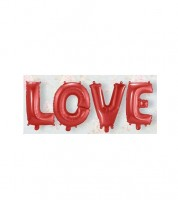 "Folienballon-Set ""LOVE"" - rot - 36 cm"