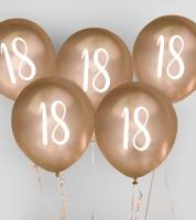 "Metallic-Luftballons ""18"" - gold - 5 Stück"