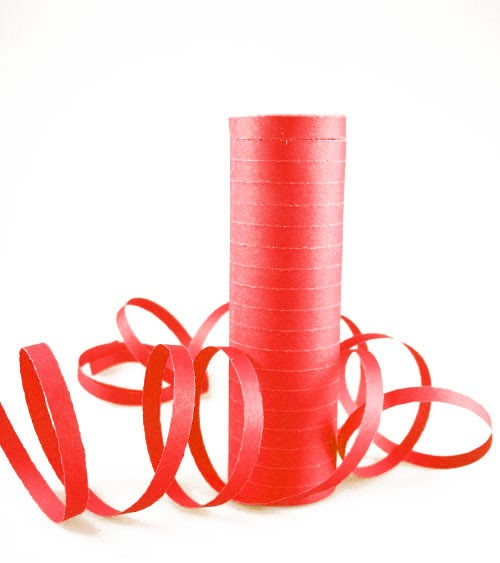 Papierluftschlange - rot