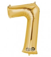 "SuperShape Folienballon ""7"" - gold"