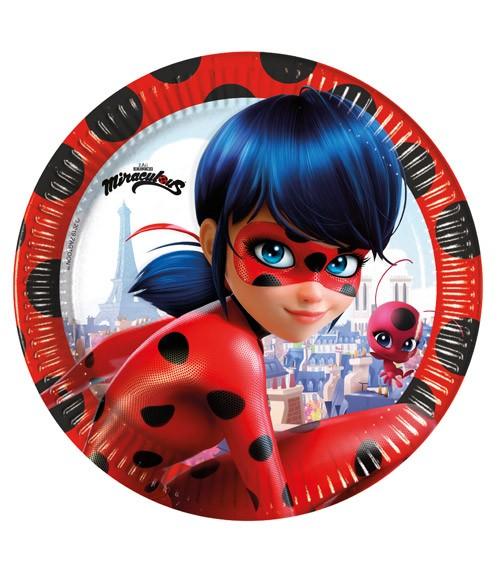 "Pappteller ""Miraculous Ladybug"" - 8 Stück"